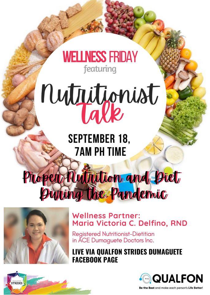 WELLNESS FRIDAY! Featuring: NUTRITIONIST TALK