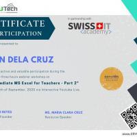 Intermediate MS Excel for Teachers