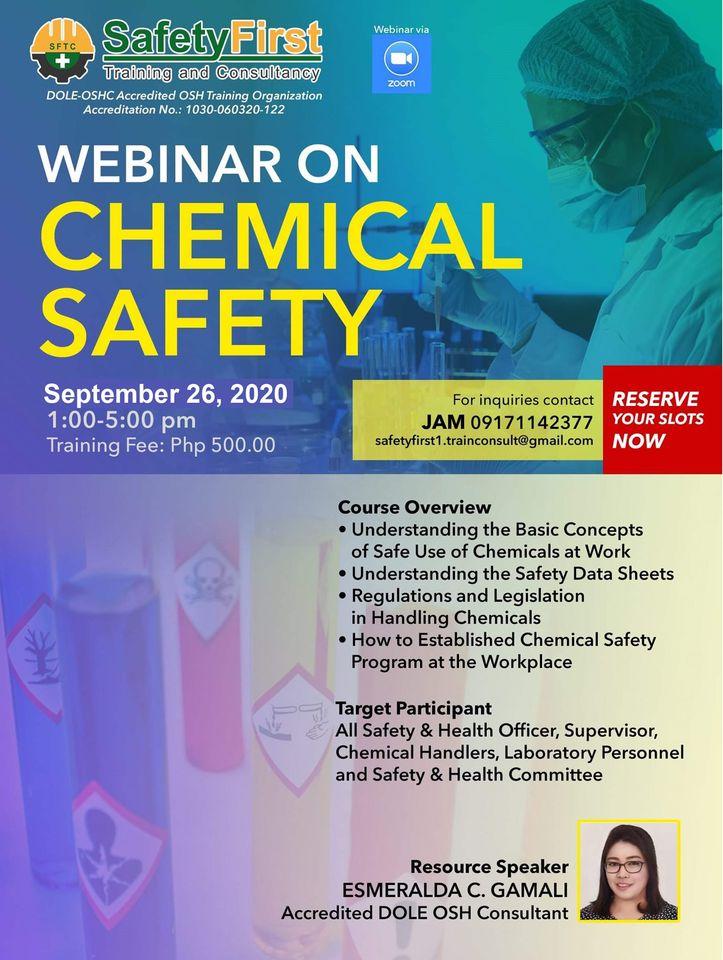 Webinar Training on Chemical Safety