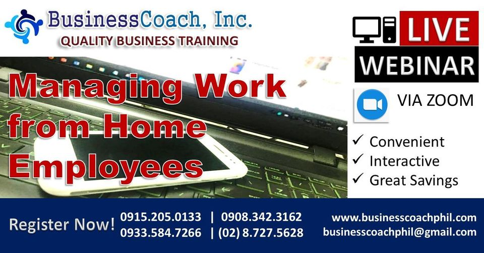 Managing Work from Home Employees