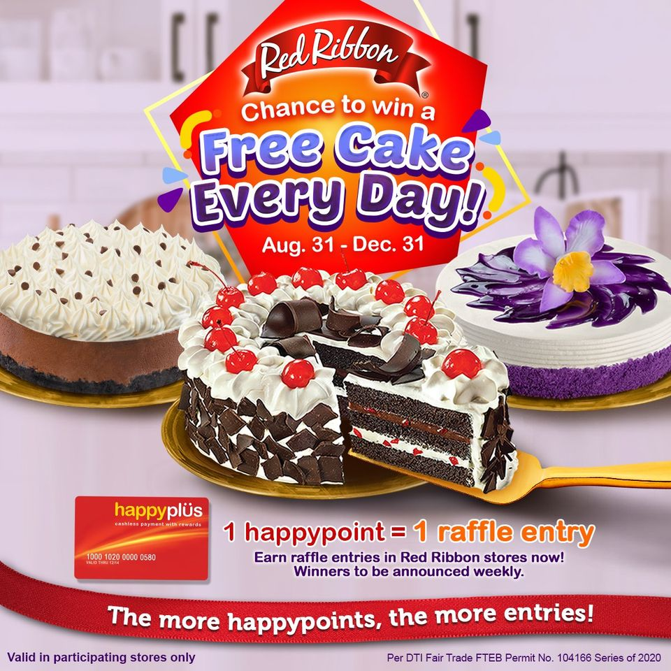 Red Ribbon FREE Cake Every Day