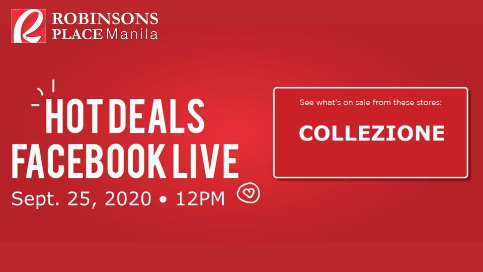 HOT Deals: FB Live at Collezione