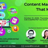 Content Marketing That Matters Webinar