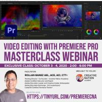 Video Editing with Premiere Pro Masterclass Webinar