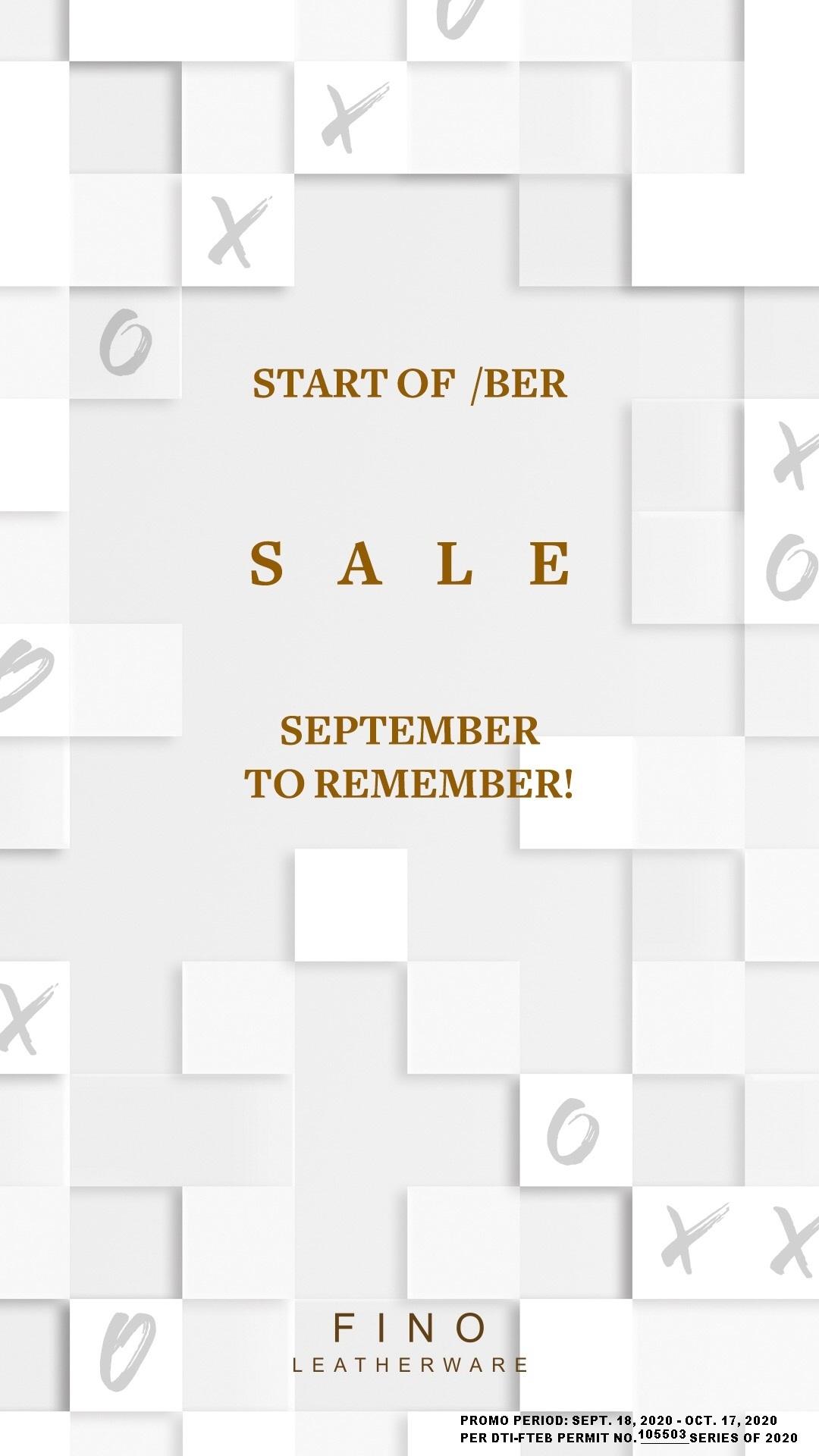 FINO Leatherware Start of BER Sale