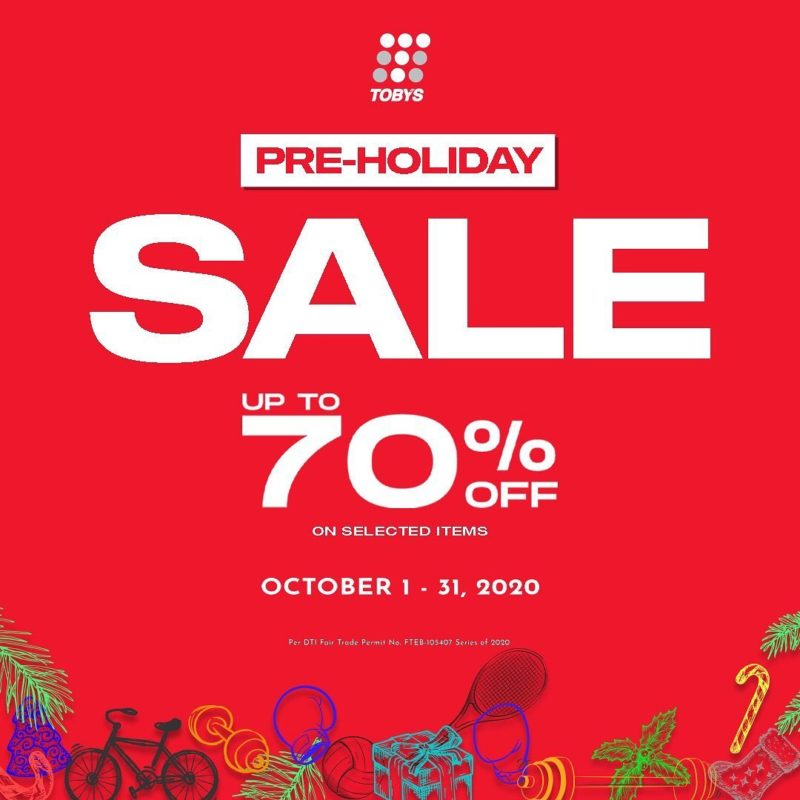 Toby's Sports up-to 70% OFF Pre-Holiday Sale