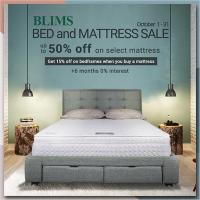 BLIMS Bed & Mattress October Sale