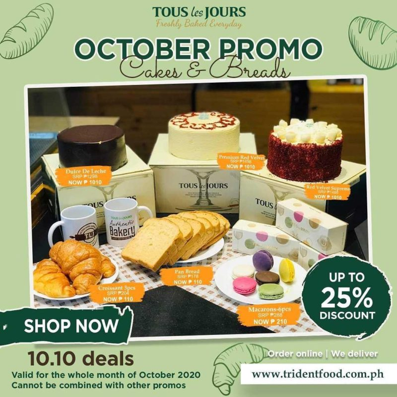 Tous les Jours Cakes and Bread Promo