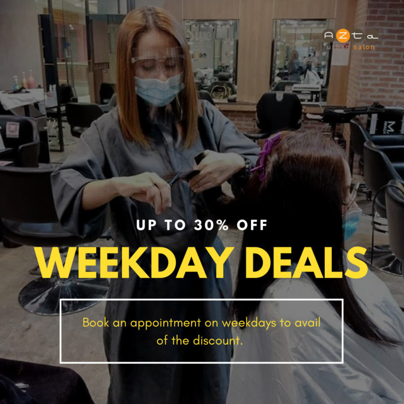 Azta Urban Salon 30% OFF Weekday Promo