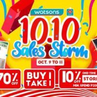 Watsons 10.10 October Sales Storm