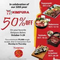 Kimpura 50% Off October Promo