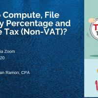 How to Compute, File and Pay Percentage and Income Tax