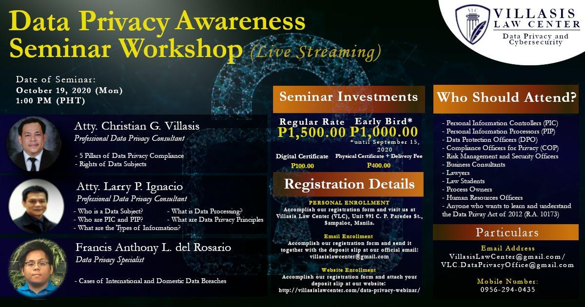 2020 VLC Data Privacy Act (DPA) Awareness Seminar
