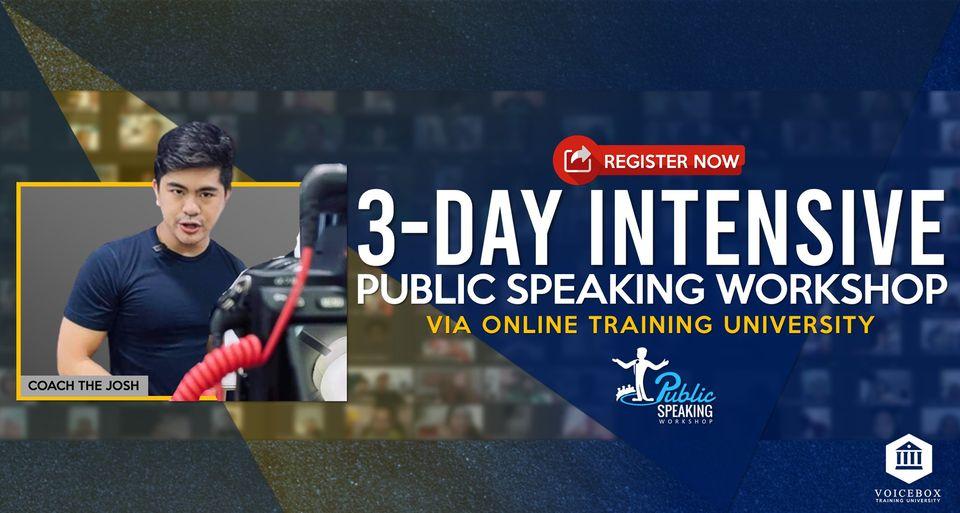 Public Speaking Workshop - Online (Wave 9)