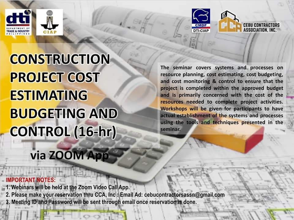 16HR Construction Project Cost Estimating, Budgeting & Control Webinar
