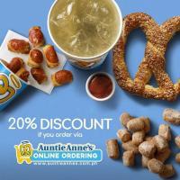 Auntie Anne's 20% OFF Online Promo