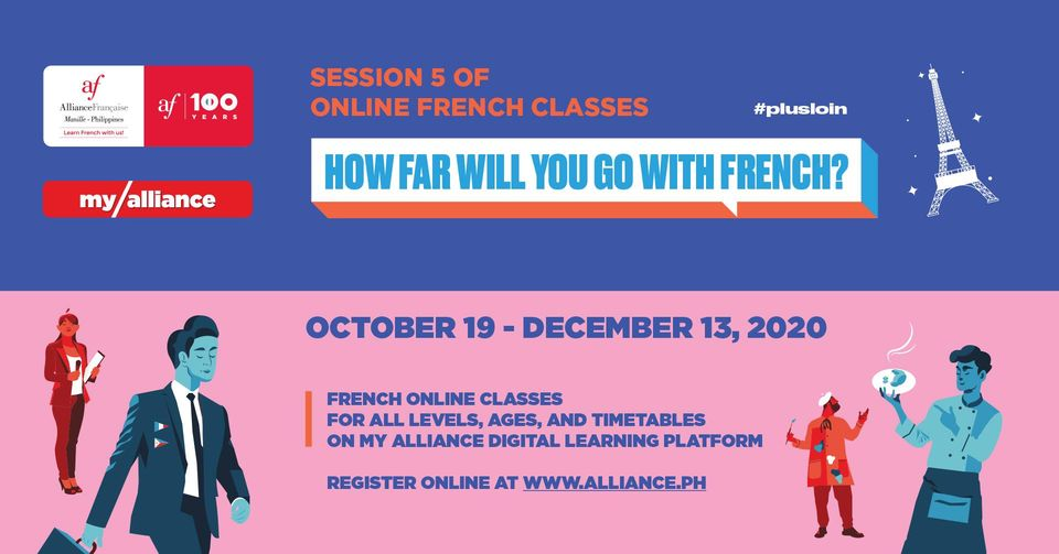 I'm staying home and learning French online