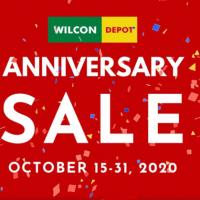 Wilcon Depot up-to 50% OFF Anniversary Sale