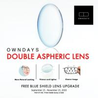 OWNDAYS Double Aspheric FREE Blue Shield Lens Upgrade Promo