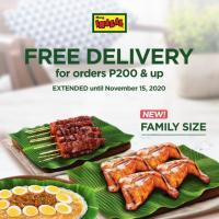Mang Inasal Free Delivery Promo