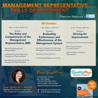 Webinar on Management Representative Skills Development