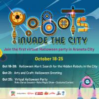 Robots are invading Araneta City this Halloween!