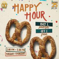 Auntie Anne's BUY 1 GET 1 Happy Hour Promo