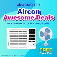 Abenson Aircon Awesome Deals with FREE Desk Fan