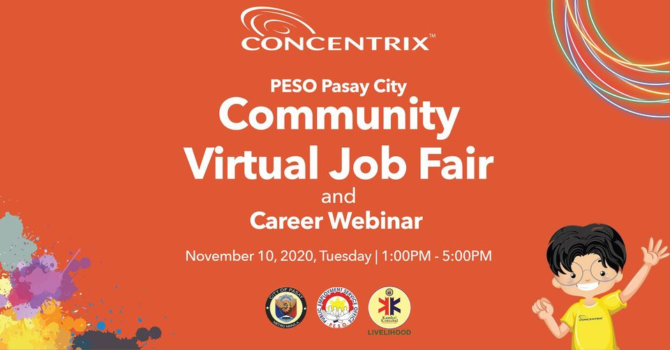 PESO Pasay Virtual Job Fair and Career Webinar