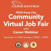 PESO Pasay Virtual Job Fair and Career Webinar