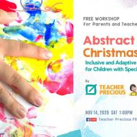 Free ART Workshop: Abstract Art for Christmas Cards