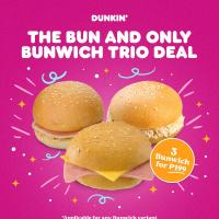 Dunkin' Donuts – 3x Bunwich for P199 Promo