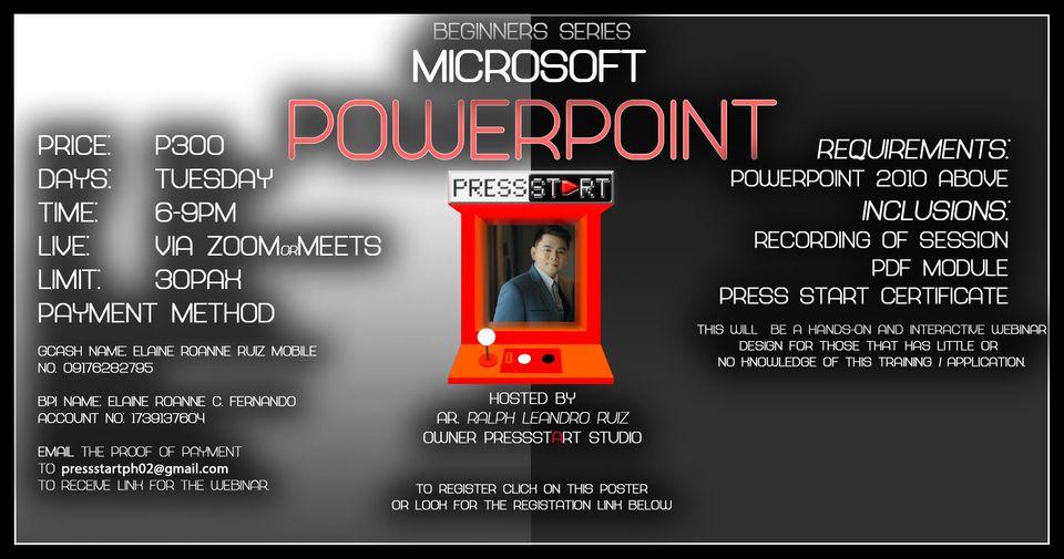 MICROSOFT OFFICE POWERPOINT Beginners Class Series