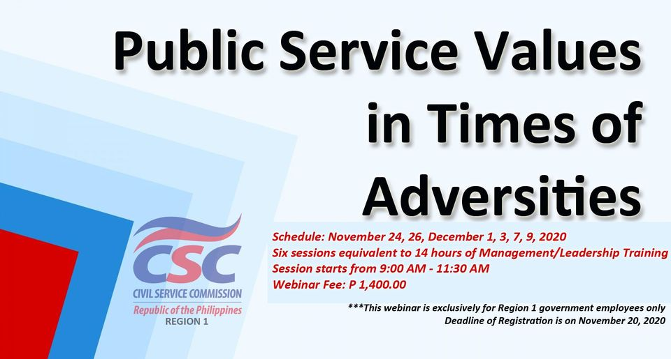 Public Service Values in Times of Adversities