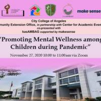 Promoting Mental Wellness among Children during Pandemic