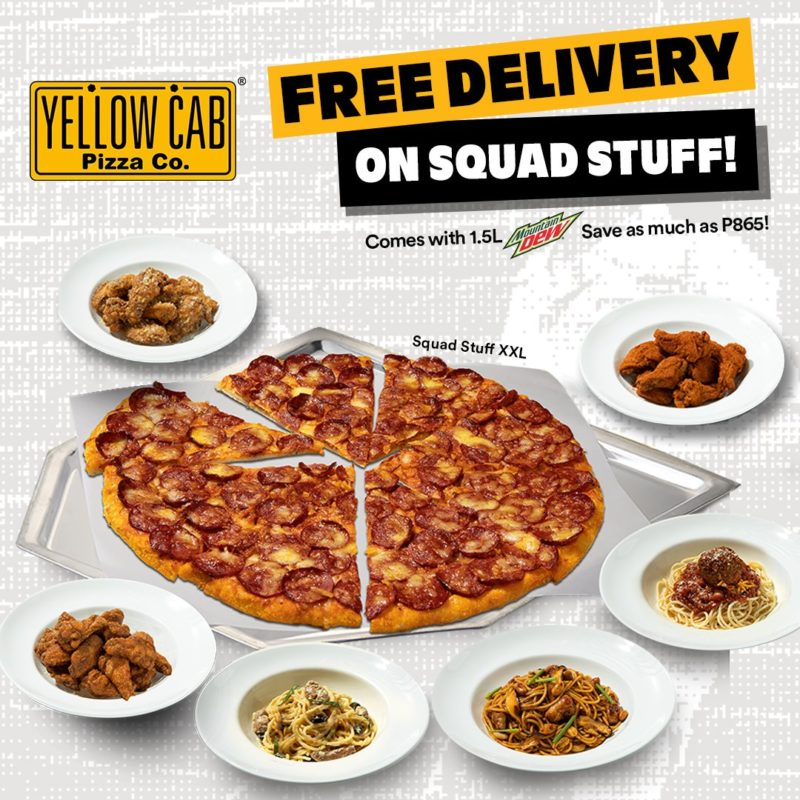 Yellow Cab FREE DELIVERY on Squad Stuff