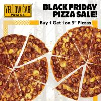 Yellow Cab BUY 1 GET 1 Black Friday Pizza Sale