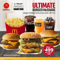 FREE DELIVERY When You Order McDonald's Ultimate Burger McShare