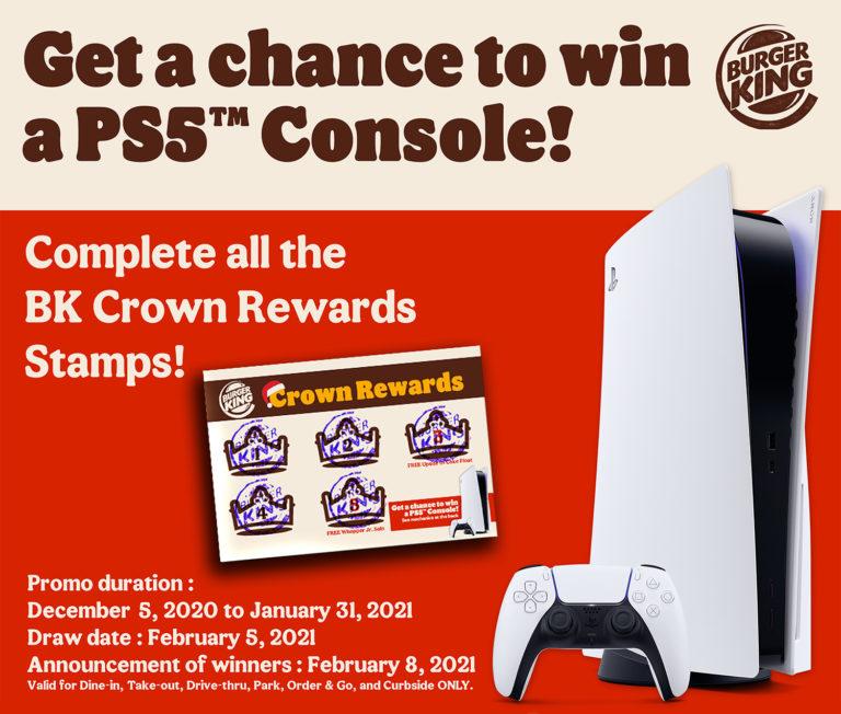 Burger King – Win a PS5 Console Raffle Promo
