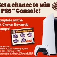 Burger King – Win a PS5 Console Raffle Promo