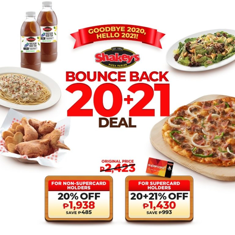 Shakey's 20+21 Bounce Back Deal