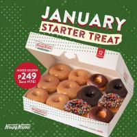 January Starter Treat of Krispy Kreme
