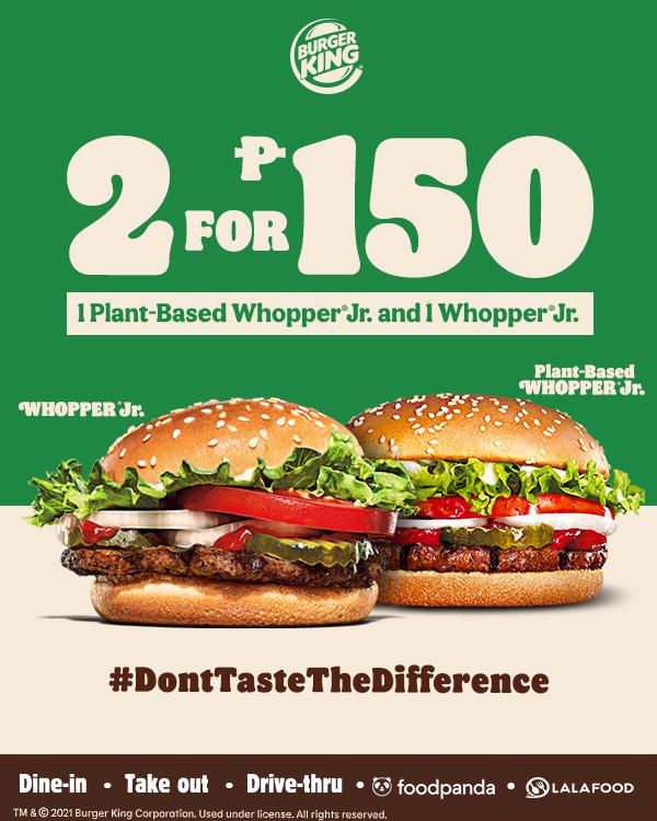Burger King P150 Plant-Based Whopper Challenge