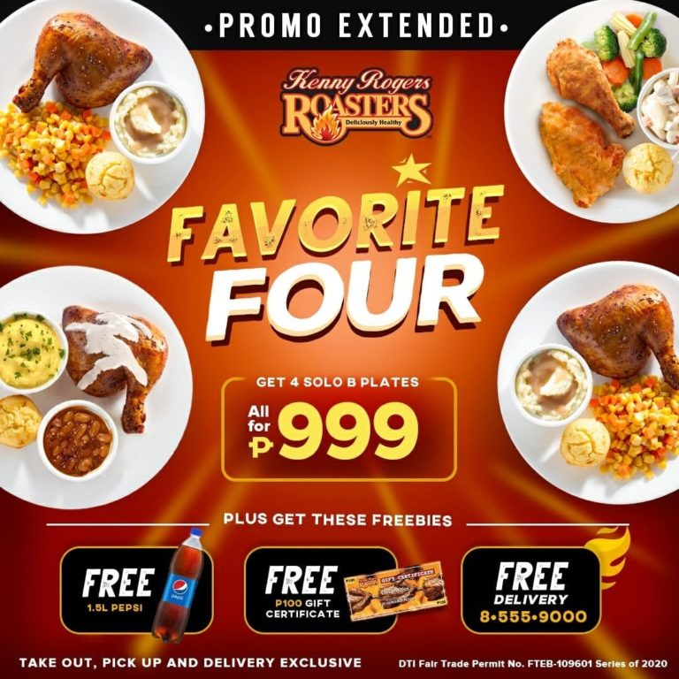 Kenny Rogers Favorite Four for P999 Promo
