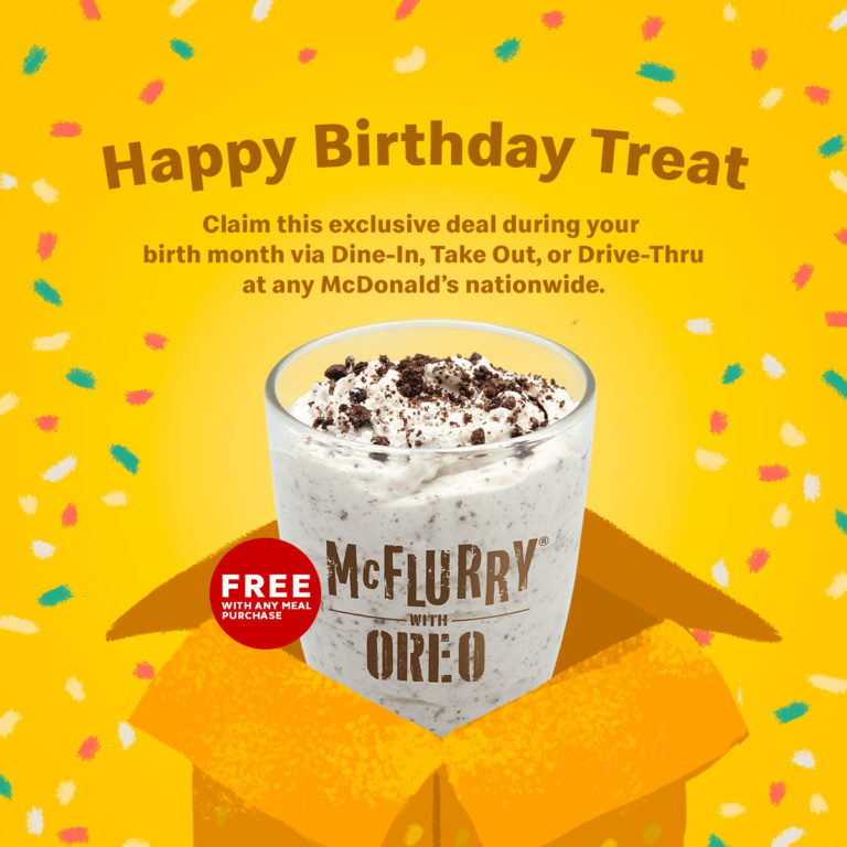 McDonald's Happy Birthday Treat Promo