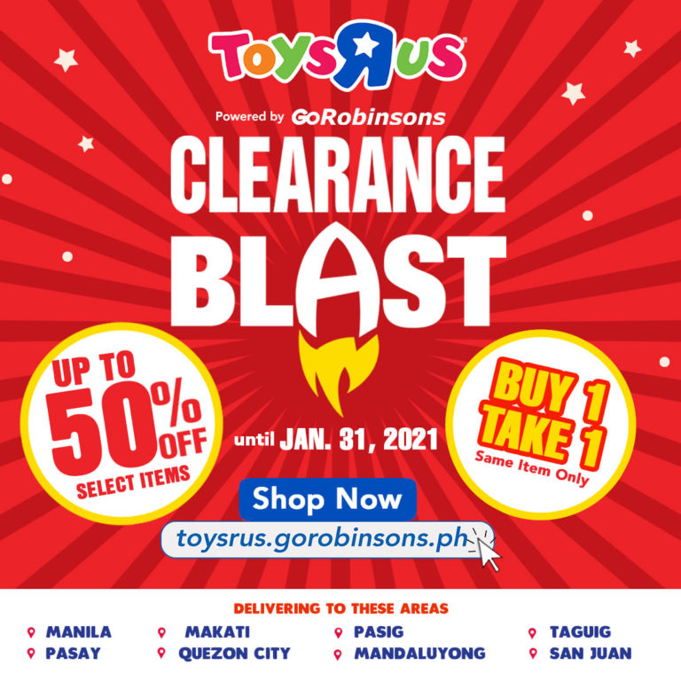 "Toys""R""Us upto 50% OFF Clearance Blast"