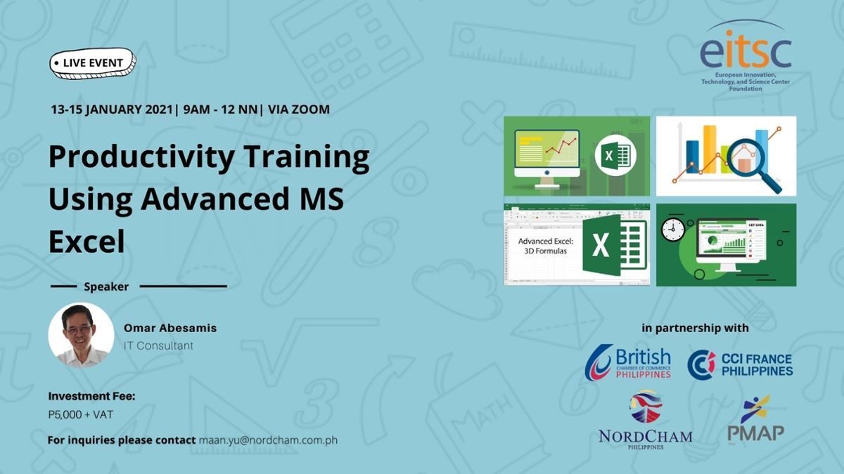 Productivity Training Using Advanced MS Excel