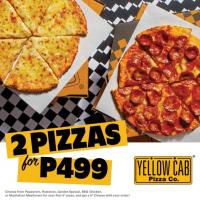 Yellow Cab – 2 PIZZAS FOR 499