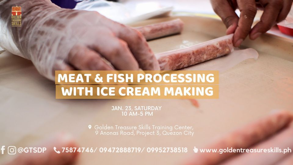 Meat and Fish Processing with Ice Cream Making