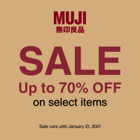 MUJI upto 70% OFF End of Season Sale